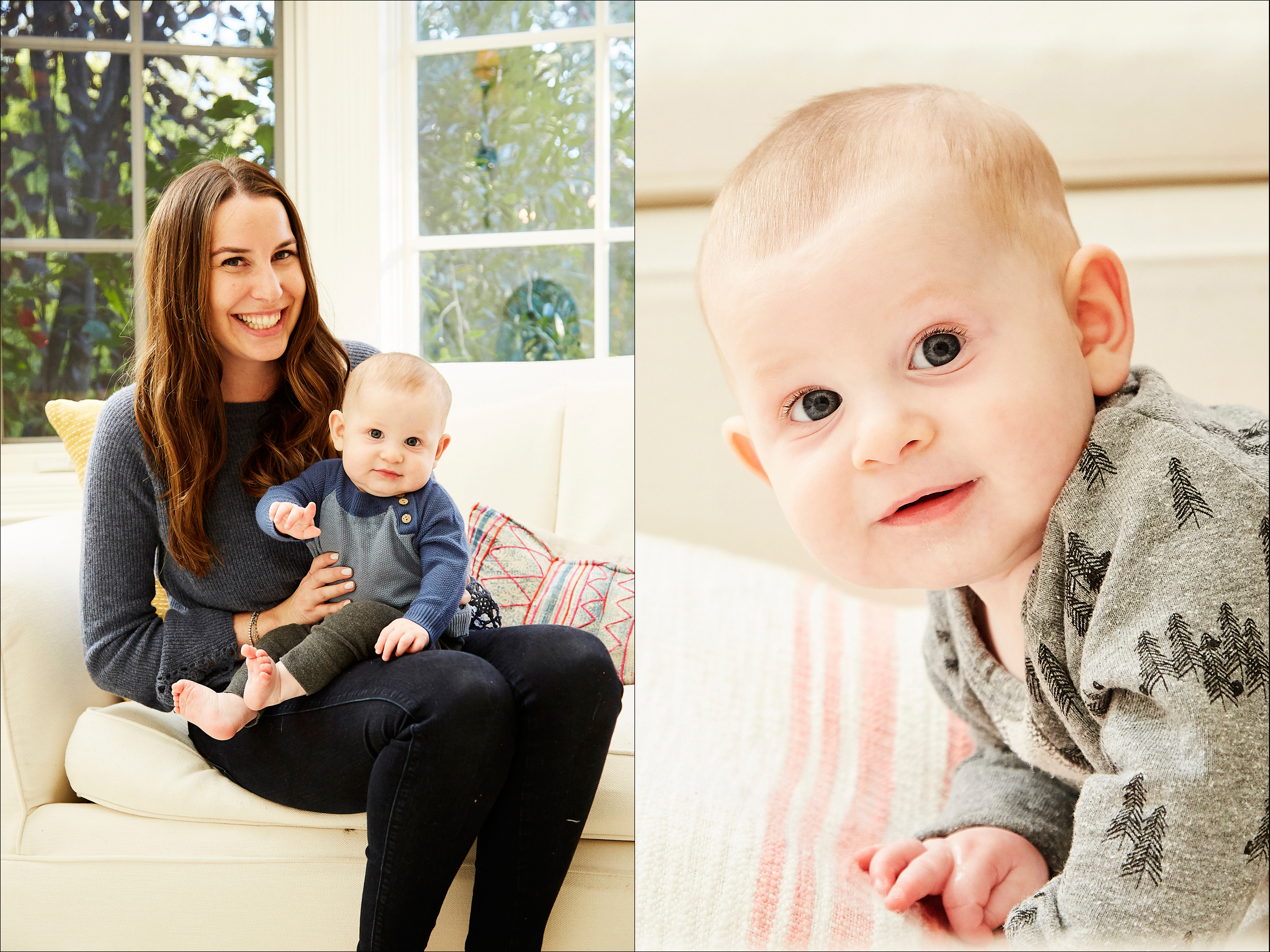 At-home family photography session Los Angeles, toddler baby kids and family photographer Los Angeles