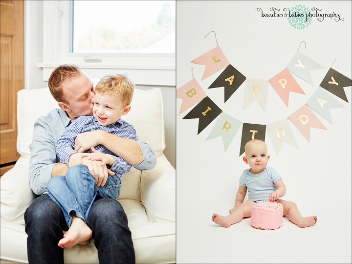 Family portrait photography Los Angeles, Baby first birthday cake smash photographer