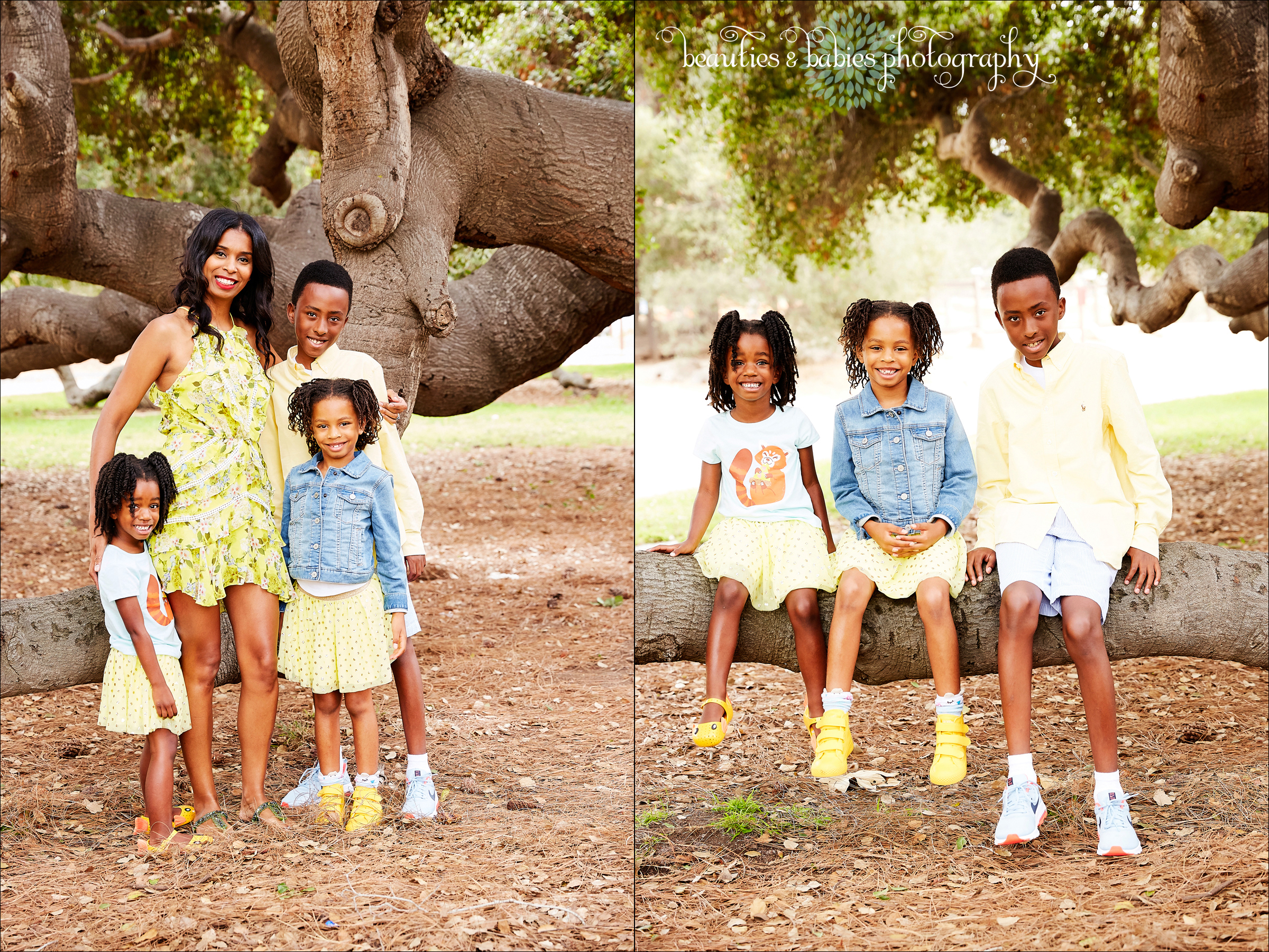 outdoor holiday mini session family photography Los Angeles photographer