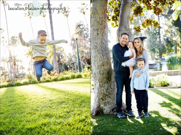 Outdoor park family and baby photography Los Angeles professional kids photographer