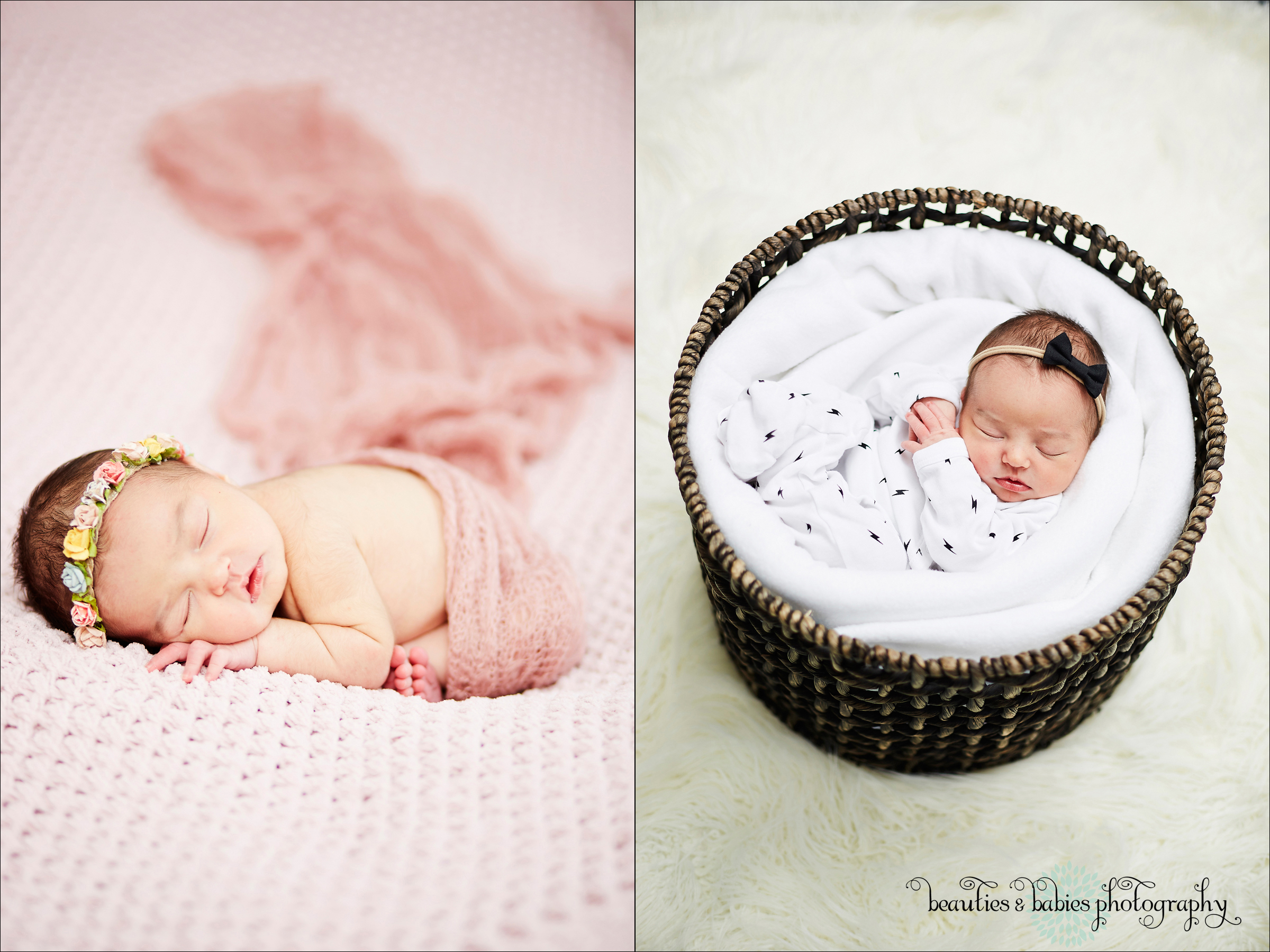 In-home Los Angeles newborn baby girl professional pictures LA photographer
