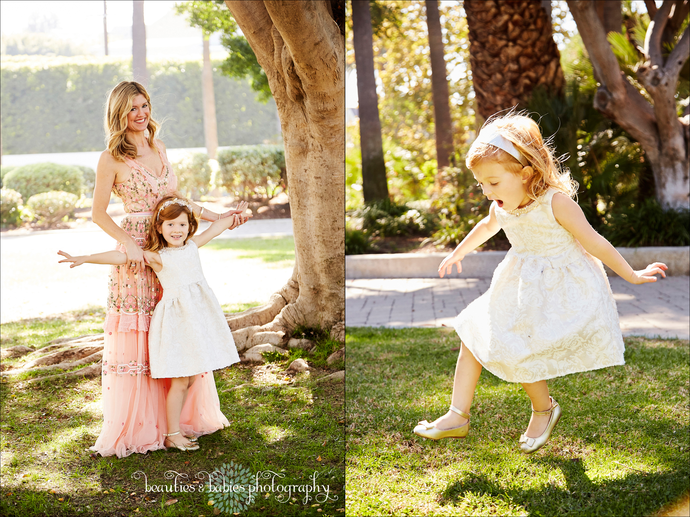 Outdoor Family photography Los Angeles professional children's pictures holiday card