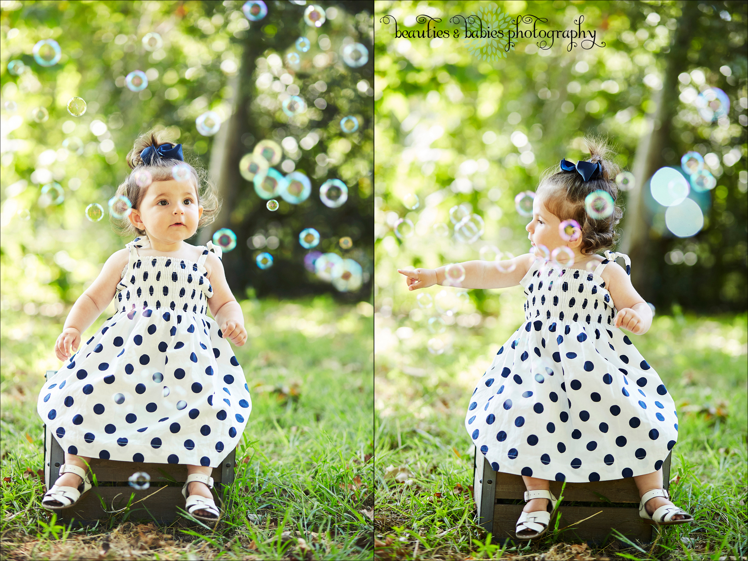 Creative bubbles first birthday photography Los Angeles baby toddler and kids photographer