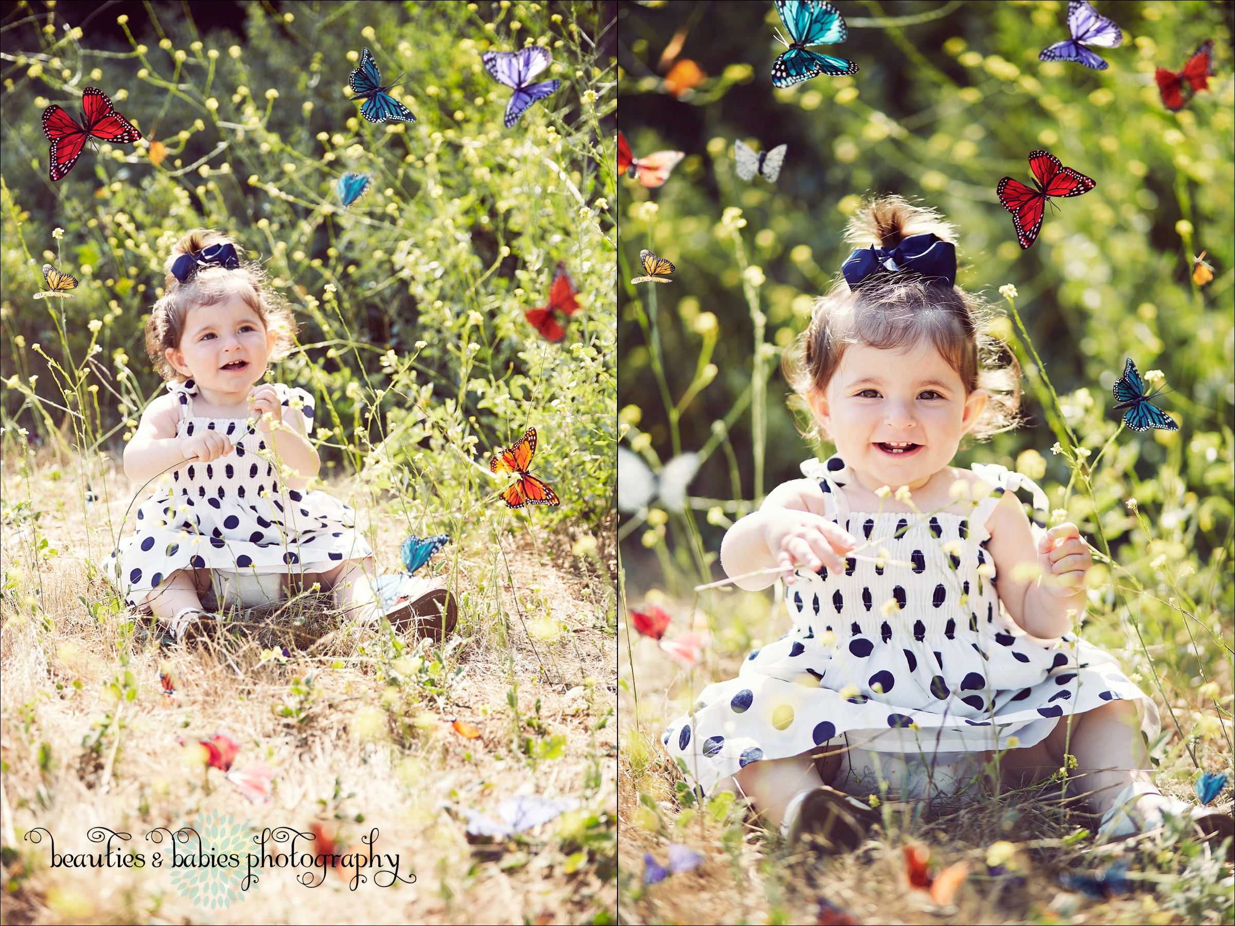 whimsical butterflies first birthday toddler photography Los Angeles baby and kids photographer
