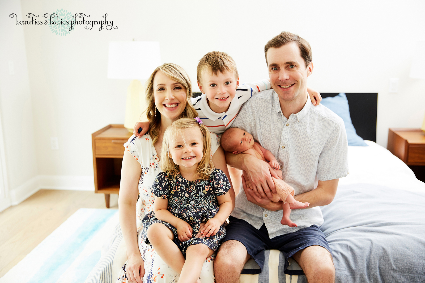 Newborn baby photography at home in Los Angeles professional photographer