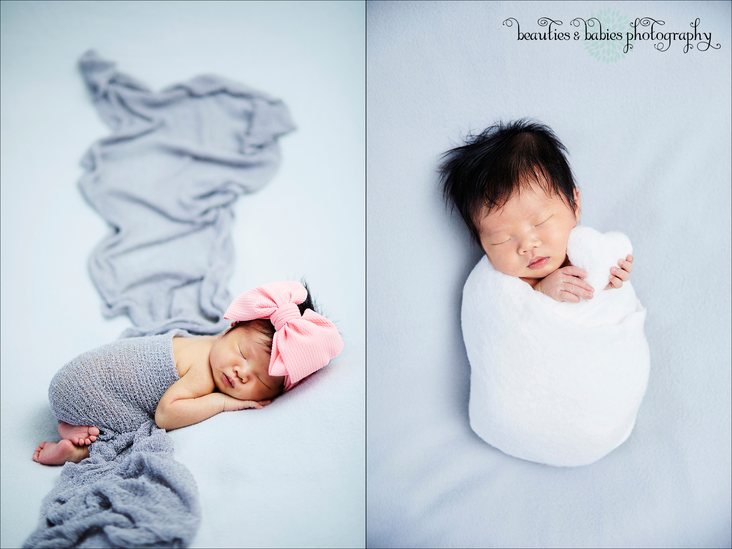 At home newborn baby photographer West Los Angeles professional pictures