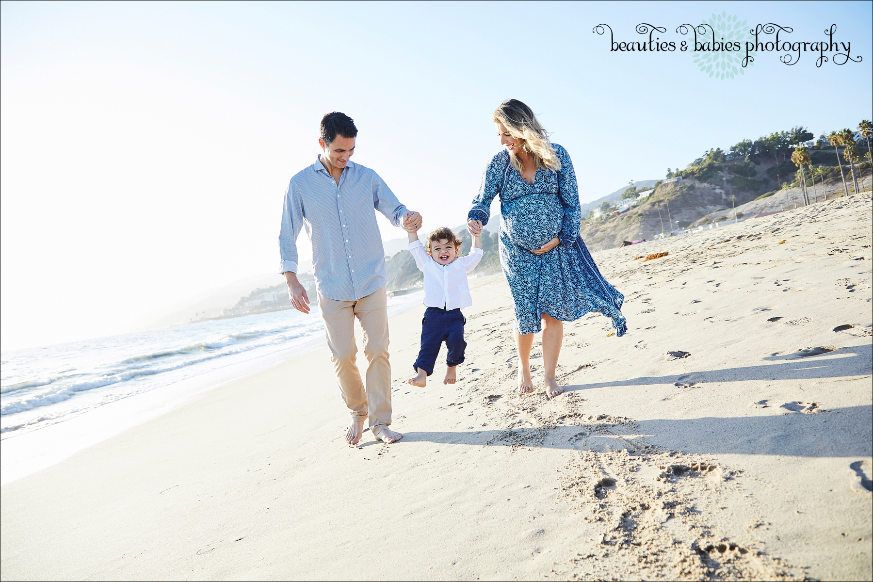 Beach maternity family photography Los Angeles professional pregnancy photographer
